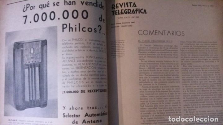 Radios antiguas: REVISTA TELEGRÁFICA-MARZO 1936 - Foto 8 - 158938982