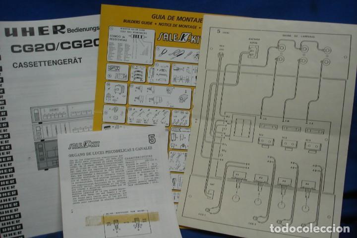 MANUAL DE USO UHER CG20 + ESQUEMA SALEKIT (Radios, Gramófonos, Grabadoras y Otros - Catálogos, Publicidad y Libros de Radio)