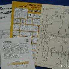Radios antiguas: -MANUAL DE USO UHER CG20 + ESQUEMA SALEKIT. Lote 159634838