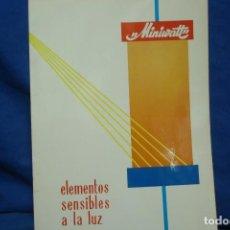 Radios antiguas: -MINIVATT - ELEMENTOS SENSIBLES A LA LUZ - COPRESA 1968. Lote 159637806