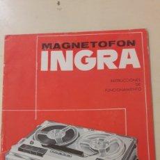Radios antiguas: MAGNETOFON INGRA CATALOGOMOD A.M 64. Lote 159746277