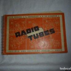 Radios antiguas: TELE TUBES.R.DE SCHEPPER.EDITIONS RADIO 1961.CARACTERISTICAS ESENCIALES Y ESQUEMAS DE UTILIZACION.Nº. Lote 159890430