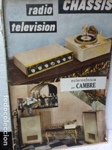 CHASSIS REVISTA DE RADIO Y TELEVISION AÑOS 50 (Radios, Gramófonos, Grabadoras y Otros - Catálogos, Publicidad y Libros de Radio)
