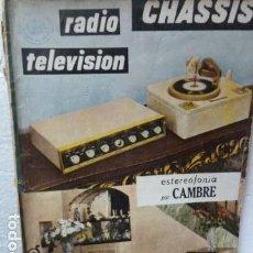 Radios antiguas - CHASSIS REVISTA DE RADIO Y TELEVISION AÑOS 50 - 160314518