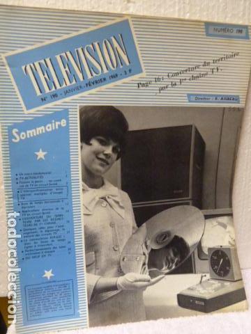TELEVISION REVISTA FRANCESA AÑO 1969 (Radios, Gramófonos, Grabadoras y Otros - Catálogos, Publicidad y Libros de Radio)