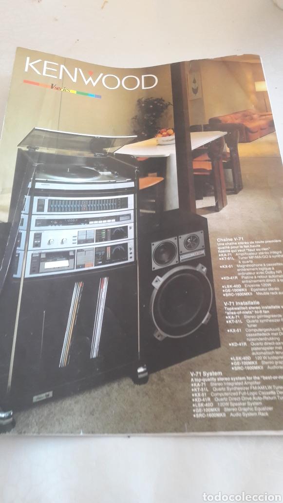 KEMWOOD V SERIES JAPON ALTA FIDELIDAD V.71 SISTEME (Radios, Gramófonos, Grabadoras y Otros - Catálogos, Publicidad y Libros de Radio)