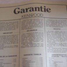 Radios antiguas: KENWOOD GARANTIA KD 21R. Lote 160334158