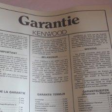 Radios antiguas: KENWOOD GARANTIA KA.51. Lote 160334669