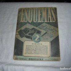 Radios antiguas: ESQUEMAS (RADIO) VOLUMEN II.EDITORIAL BRUGUERA BARCELONA. Lote 161018142