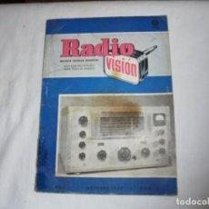 Radios antiguas: RADIO VISION Nº 8.REVISTA TECNICA MENSUAL.AÑO I.OCTUBRE DE 1952. Lote 161018530