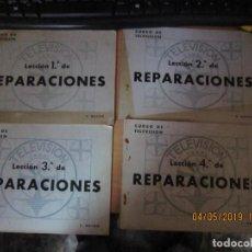 Radios antiguas: RADIO MAYMO, LECCIONES 1,2,3,4. REPARACIONES TELEVISIÓN.. Lote 162368790