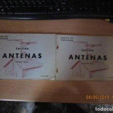 Radios antiguas: RADIO MAYMO, CURSO DE TELEVISIÓN ANTENAS 1ª Y 2ª PARTE. Lote 162368966