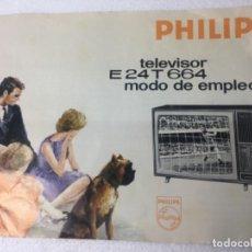 Radios antiguas: ORIGINAL ANTIGUO PHILIPS CATÁLOGO. Lote 162458594