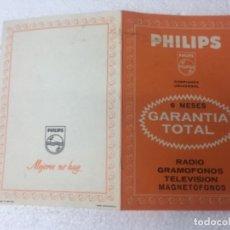 Radios antiguas: ORIGINAL ANTIGUO PHILIPS CATÁLOGO. Lote 162458674