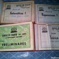 Radios antiguas: CURSO DE RADIO POR CORREOS (MAYMO). Lote 163517052