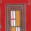 Radios antiguas: RADIO BARCELONA BON NADAL 1969 PUNT DE LLIBRE PUNTO DE LIBRO PAPEL `PIEL TROQUELADO. Lote 164708070