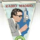 Radios antiguas: RADIO MADRID CADENA SER ALBERTO OLIVERAS USTEDES SON FORMIDABLES ANTIGUO BANDERIN AÑOS 60. Lote 164859274
