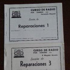 Radios antiguas: CURSO RADIO MAYMO. REPARACIONES.. Lote 165527242