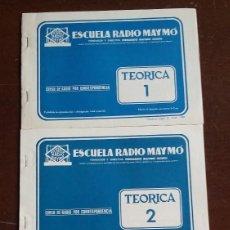 Radios antiguas: CURSO RADIO MAYMO. LECCIONES TEORICA.. Lote 165528830