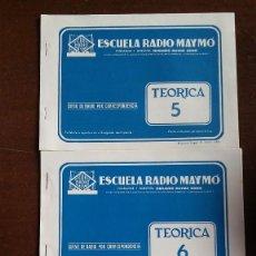 Radios antiguas: CURSO RADIO MAYMO. LECCIONES TEORICA AÑO 1963.. Lote 165633990