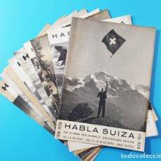 Radios antiguas: LOTE 13 REVISTAS HABLA SUIZA CON PROGRAMACION DE RADIO AÑOS 1953 A 1960 + FOLLETO DE SUIZA DE REGALO. Lote 165837126