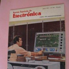 Radios antiguas: REVISTA ESPAÑOLA DE ELECTRONICA Nº 194 ENERO 1971. Lote 167471440