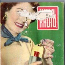 Radios antiguas: DARKNESS : MANUAL DE RADIO Nº 13 - ACUMULADORES (BRUGUERA, 1953). Lote 168021880