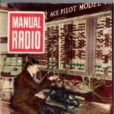 Radios antiguas: DARKNESS : MANUAL DE RADIO Nº 3 - CORRIENTES ELÉCTRICAS (BRUGUERA, 1953). Lote 168021964