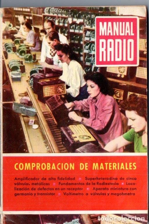 DARKNESS : MANUAL DE RADIO Nº 25 - COMPROBACIÓN DE MATERIALES (BRUGUERA, 1954) (Radios, Gramófonos, Grabadoras y Otros - Catálogos, Publicidad y Libros de Radio)