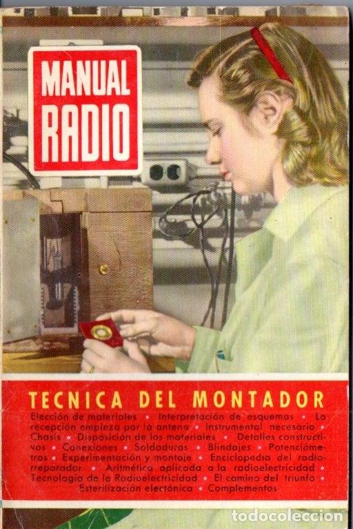 DARKNESS : MANUAL DE RADIO Nº 8 - TÉCNICA DEL MONTADOR (BRUGUERA, 1953) (Radios, Gramófonos, Grabadoras y Otros - Catálogos, Publicidad y Libros de Radio)