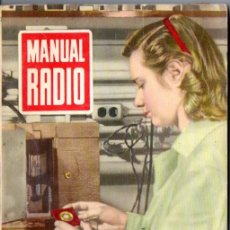 Radios antiguas: DARKNESS : MANUAL DE RADIO Nº 8 - TÉCNICA DEL MONTADOR (BRUGUERA, 1953). Lote 168023220