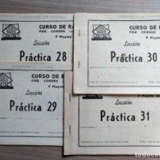 Radios antiguas: LOTE 4 CUADERNOS PRACTICAS ESCUELA RADIO MAYMO. Lote 169185584