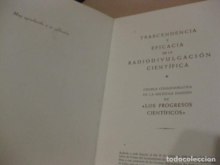 Radios antiguas: Facsímil del microfono simbolico de plata ofrecido a manuel vidal españó . radioyentes radio 1948 - Foto 3 - 169450612
