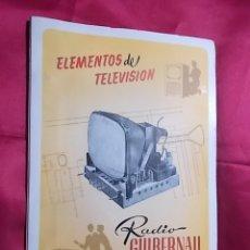 Radios antiguas: ELEMENTOS DEL TELEVISION . RADIO GUIBERNAU, BARCELONA. Lote 169616028