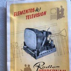 Radios antiguas: ELEMENTOS DE TELEVISIÓN. RADIO GUIBERNAU. Lote 170076220