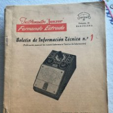 Radios antiguas: INSTRUMENTOS JANZER FERNANDO ESTRADA Nº1. Lote 170076504