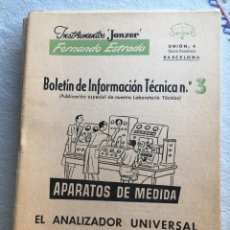 Radios antiguas: INSTRUMENTOS JANZER FERNANDO ESTRADA Nº 3. Lote 170076596