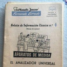 Radios antiguas: INSTRUMENTOS JANZER FERNANDO ESTRADA Nº 4. Lote 170076652