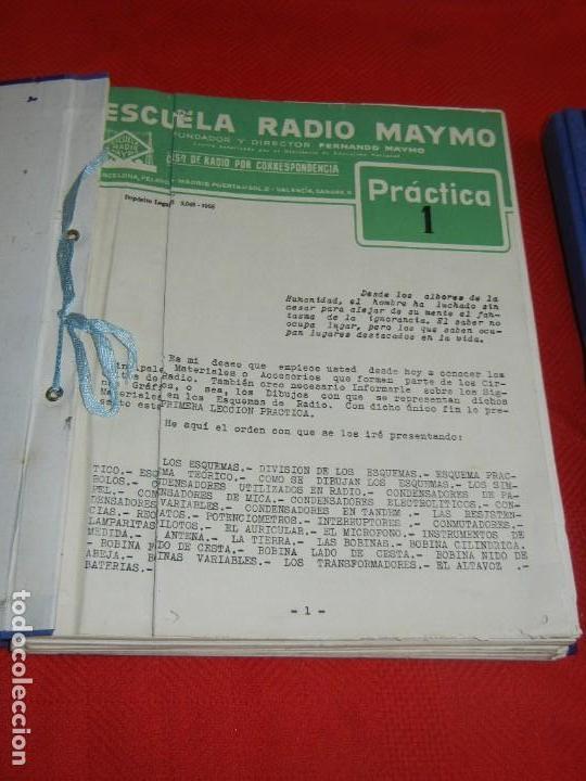 Radios antiguas: CURSO DE RADIO POR CORREO, FERNANDO MAYMO 1958 EN 2 CARPETAS 49 ENTREGAS - Foto 2 - 170513652