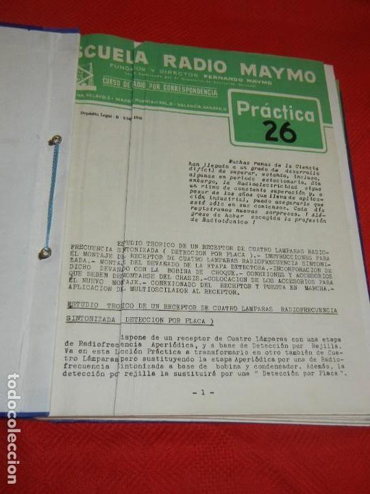 Radios antiguas: CURSO DE RADIO POR CORREO, FERNANDO MAYMO 1958 EN 2 CARPETAS 49 ENTREGAS - Foto 3 - 170513652