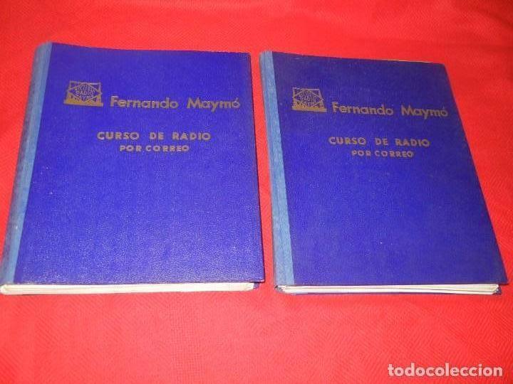 CURSO DE RADIO POR CORREO, FERNANDO MAYMO 1958 EN 2 CARPETAS 49 ENTREGAS (Radios, Gramófonos, Grabadoras y Otros - Catálogos, Publicidad y Libros de Radio)
