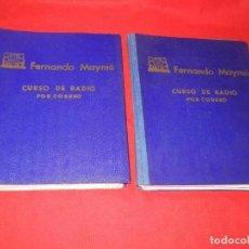 Radios antiguas: CURSO DE RADIO POR CORREO, FERNANDO MAYMO 1958 EN 2 CARPETAS 49 ENTREGAS. Lote 170513652