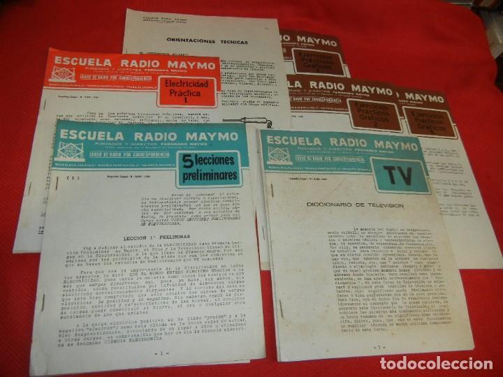 ELECTRICIDAD PRACTICA 1, 5 LECCIONES PRELIMINARES DICCIONARIO TELEVISION, ESCUELA RADIO MAYMO 1958 (Radios, Gramófonos, Grabadoras y Otros - Catálogos, Publicidad y Libros de Radio)