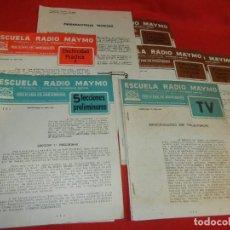 Radios antiguas: ELECTRICIDAD PRACTICA 1, 5 LECCIONES PRELIMINARES DICCIONARIO TELEVISION, ESCUELA RADIO MAYMO 1958. Lote 170514236