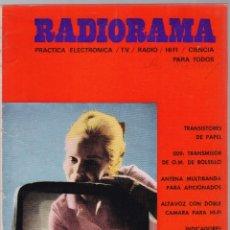 Radios antiguas: RADIORAMA Nº 11 - OCTUBRE 1968 - PRACTICA ELECTRONICA - TV - RADIO - HI-FI - CIENCIA. Lote 172623900