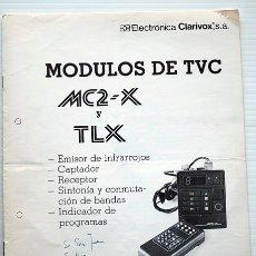 Radios antiguas: MÓDULOS DE TVC. MC2-X Y TLX. BOLETÍN Nº6 DE 1983. ELECTRÓNICA CLARIVOX. Lote 174105892