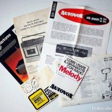 Radios antiguas: 6 FOLLETOS PUBLICITARIOS ANTIGUOS/INFORMACIÓN TÉCNICA DE DIFERENTES PRODUCTOS Y MARCAS. Lote 174252427