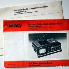 Radios antiguas: 2 MANUALES DE INSTRUCCIONES TV- RADIO CASSETTE RECORDER. Lote 174317840