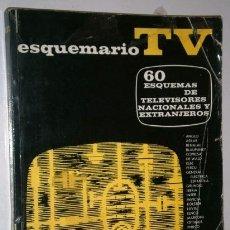 Radios antiguas: 60 ESQUEMAS DE TELEVISORES NACIONALES Y EXTRANJEROS / ESQUEMARIO III DE ED. REDE EN BARCELONA 1967. Lote 174495319