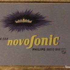 Radios antiguas: CATALOGO DE RADIOS PHILIPS NOVOSONIC AÑO 1956. Lote 174564723